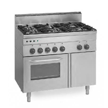 Cocina Gas Con Horno 600 Mm Fondo 11600w
