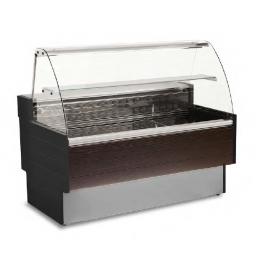Vitrina supermercado BUK 120L cristal curvo